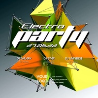 Electro Sound Electronic Music Event Party Abstract Form