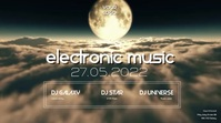 Electro Sound Electronic Music Event Party moon abstract