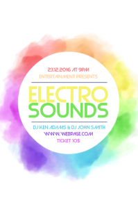 Electro Sounds Flyer Template Colorful