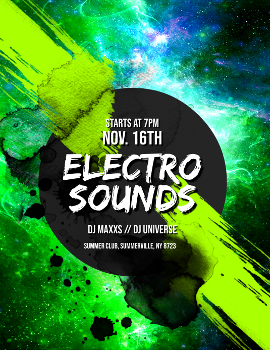 Electro Sounds Flyer