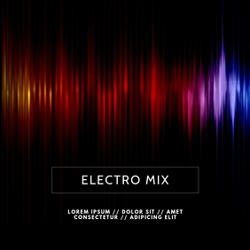 Electro Techno Music Album Cover Template