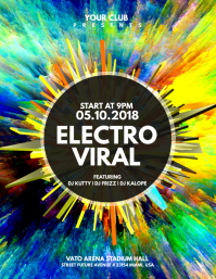 Electro Viral Flyer Template