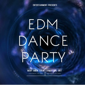 Electronic Dance Party Video template