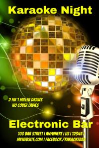 Electronic Karaoke Bar Poster
