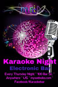 Electronic Karaoke Bar Night Flyer