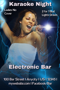 Electronic Karaoke Bar Flyer