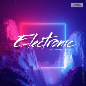 Electronic Music album Cover Template