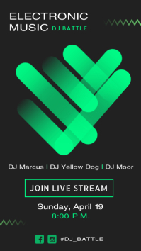 Electronic Music Live Stream Instagram Story template