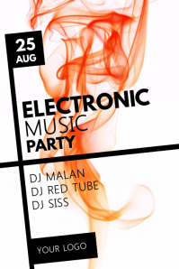 Electronic Music Party Poster Event Abstract