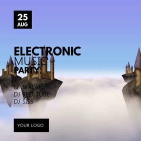 Electronic Music Techno Deep House Party Club