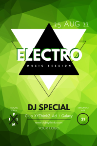 Electronic Party Music EDM Techno Event Club