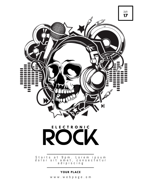 Electronic Rock Flyer Template