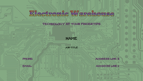 Electronics Business Cards