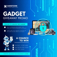 Electronics Giveaway Social Media Image Instagram 帖子 template