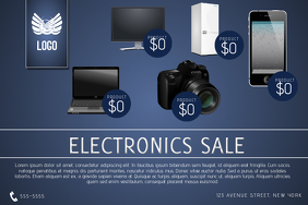electronics sale flyer template phone tv laptop