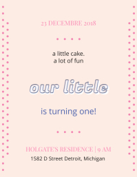 Elegant 1st Birthday Flyer Template