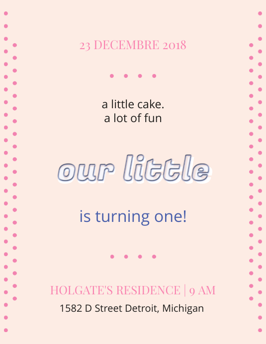 Elegant 1st Birthday Flyer Template