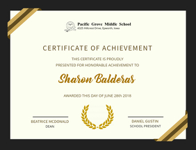 click a template to customize elegant achievement certificate design template graduation party video template
