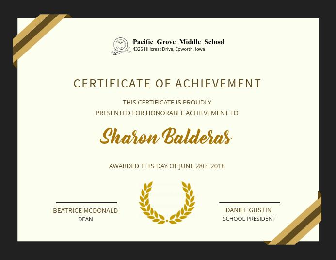 foto de Elegant Achievement Certificate Design Template PosterMyWall