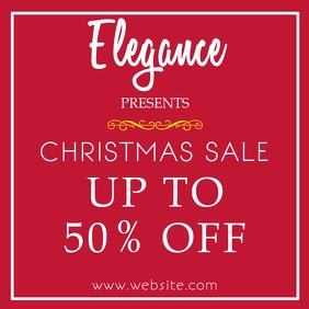 Elegant and Luxury christmas instagram post a
