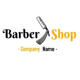 Elegant and modern Barber shop logo