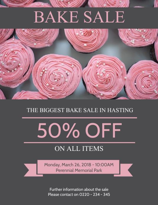 Elegant Bake Sale Flyer Template