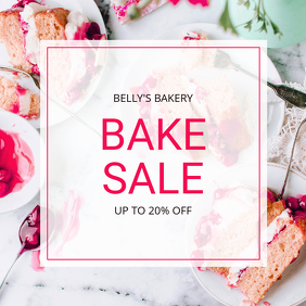 Elegant Bake Sale Promotion Instagram Template