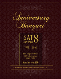 Elegant Banquet Invitation Flyer Template