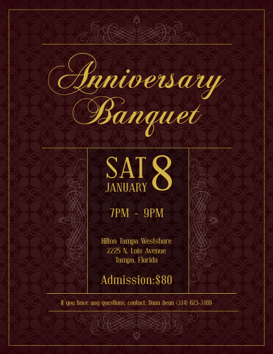 Elegant Banquet Invitation Flyer Template Postermywall