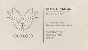 Elegant Beauty salon business card template นามบัตร