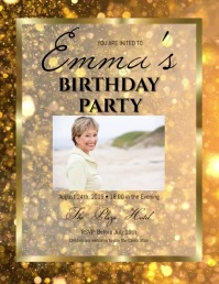 elegant birthday rose Invitation Template