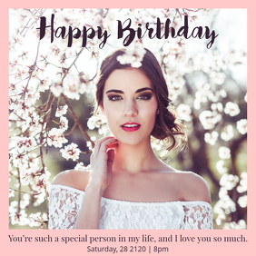 Elegant Birthday wish Instagram Template