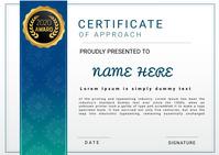 Elegant blue certificate of appreciation temp Kartu Pos template