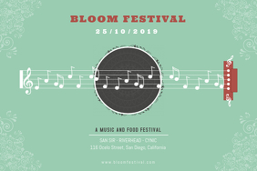Elegant Blues Music Festival Poster 海报 template