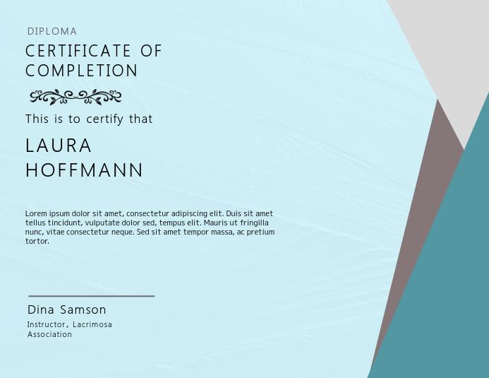 Elegant Certificate Card Template Flyer (Letter pang-US)
