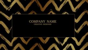 Elegant Chevron Business Cards