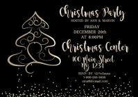 Elegant Christmas Party Postcard