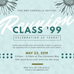 Elegant Class Reunion Invitation Design Instagram Post template