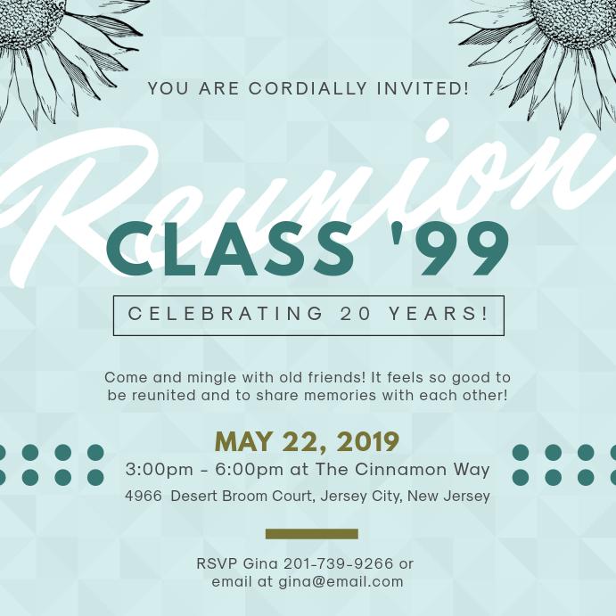 Elegant Class Reunion Invitation Design