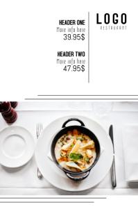 elegant classy expensive restaurant meal price template