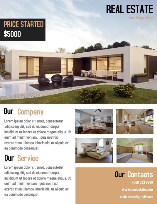 Real Estate Business Flyer Template Simple