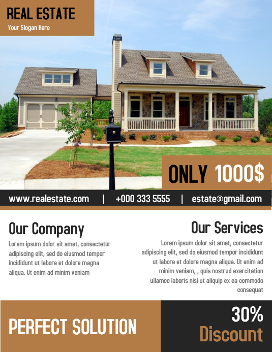 Elegant Design Real Estate Flyer Template