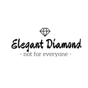 Elegant diamond black and white logo