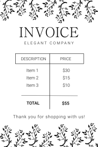Elegant digital business invoice Banner 4' × 6' template