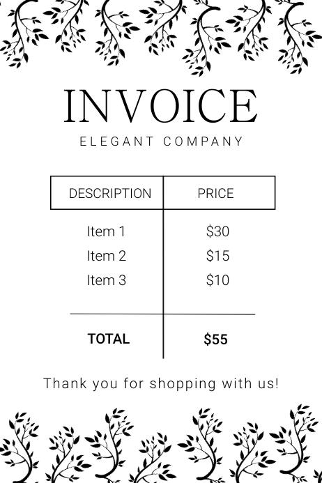 Elegant digital business invoice Banner 4 x 6 fod template