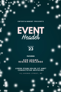 Elegant Event flyer design template