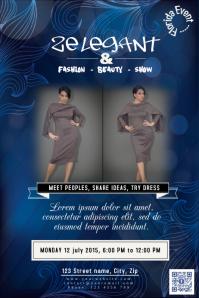 Event poster template - Elegant design