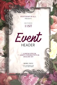 Elegant Event video flyer design template