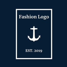 Elegant fashion dark blue logo