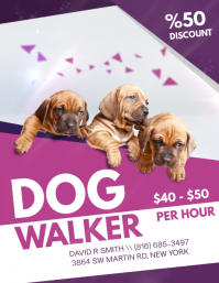 Elegant Fashionable Dog Walking Flyer Design